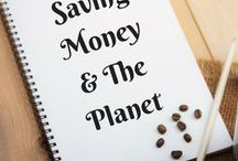 Saving Money and the Planet / Tips and ideas for saving money on things we use every day, reusing, recycling, repurposing, all while possibly being more green.