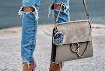 Fashion and impression / Beautiful dresses, high heels, ruffles, glitter, skirts...