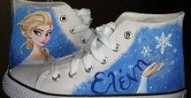 hand painted shoes / Hand-painted canvas shoes