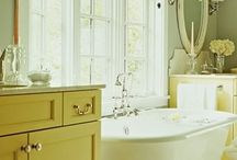 Bathrooms and laundry room / White on white