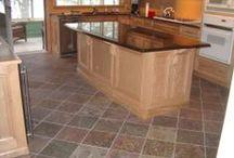 Slate / A portion of slate tiles in stock at TSW, LLC in Merriam, Kansas.