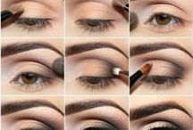 Women Beauty / eyes shadow (smokey eyes), make up, etc