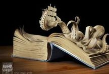 Book Cutting Art / Beautiful works of art made from books.