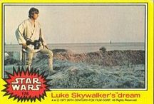 """The Star Wars Trading Cards / In the late 70's, there was no way to see """"Star Wars"""" unless you went to the theatre over & over again. As a 9 year old kid, collecting & trading """"Topps Star Wars Trading Cards"""" was the best way to remember the scenes, memorize all the characters and relive the adventure daily with friends & family....oh and chew the included gum sticks from each pack! Wonderful childhood memories."""