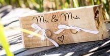 Alles voor je Ringen / Alles voor je Ringen!! Leuke moderne en handgemaakte producten om je ringen in te bewaren tijdens de bruiloft. Geheel te personaliseren.