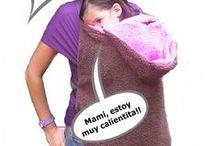 Cobija manos libres Bebe Trapoz y mas / Cobija para usar sobre fular porta bebe que te permite tener tus manos libres y tu bebe calientito!