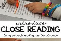 Close Reading / Strategies to implement close reading in elementary classrooms. Aligned with CCSS