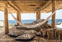 BOHO / Ambiance vacance,décontacté,retour de la plage,amis,turquoise,blanc,soleil,dentelle,lin,sable.plaisir
