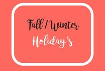 Fall and Winter Holiday's / Fall and winter holidays. Halloween, Thanksgiving, New Years. Fall crafts and Decor. DIY decorating, crafts, activities, food