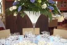 Table Centres / Upgrade your table centres from the standard small displays provided by the venue.