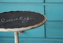 Blackboard bliss / Get creative with blackboard paint
