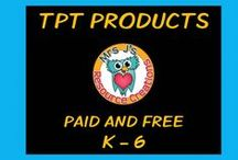 TPT Products and Resources - paid and free / Great TPT products and ideas.