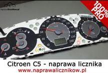 Naprawa licznika Citroen / Profesjonalne naprawy liczników Citroen. Zacinające się wskaźniki, brak podświetlenia tarcz zegara oraz całkowicie zepsute liczniki.