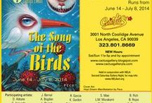 """The Song of the Birds"" - Group Exhibit - June/July 2014 / Cactus Gallery is pleased to present THE SONG OF THE BIRDS, our 6th annual bird themed group show. People have always been fascinated by animals. Birds, in particular, seem to have sacred and secular meanings, which can be positive and negative, and their use is evident in religion, music, mythological tales, and visual art. These feathered creatures can convey emotion or even comment on society. For purchase info, contact Sandra Mastroianni at semastroianni70@yahoo.com  / by Cactus Gallery"