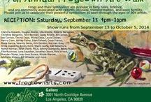 FROGTOWN Group Show - September 2014 / Frogtown 9th Annual Artwalk - Frog Themed Exhibit - Group Show. We have prepared a group show featuring frogs! Frogs and their symbolism are popular in fairy tales, folklore, and are commonly associated with rebirth, renewal, transformation, and even fertility. Please join us to celebrate their powerful symbolism as seen through the eyes of 35+ artists. Contact Sandra at semastroianni70@yahoo.com for purchase info. / by Cactus Gallery