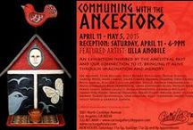 """Communing with the Ancestors"" / An exhibition inspired by the ancestral past and our connection to it, bringing it alive through imagination and memory. Runs April 11 - May 5, 2015. Contact Sandra Mastroianni at semastroianni70@yahoo.com for purchase info or additional images. The gallery is open to installment plans to help you grow your collection. 3001 North Coolidge Avenue, Los Angeles, CA 90039 / by Cactus Gallery"
