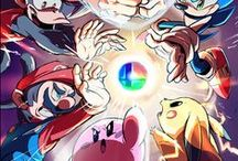 Fighting Games / Street Fighter, King of Fighters, Super Smash Bros, and other digital brawlers.