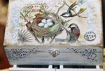 DECOUPAGE / cajas, bandejas, cuadros, adornos rústicos,  artesanales con técnicas de servilleta o pintura decorativa / by Rosario Walzer
