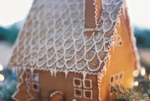 gingerbread house and cookies