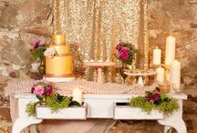 pink and sparkly wedding ideas