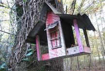 Birdhouses / Do you love beautiful and unusual bird houses? Check out the birdhouses at Butterfly Creek Inn.