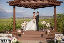 Lorimar Vineyard and Winery New Vineyard Lawn / Spend and evening under the stars on our wedding lawn and reception space, nestled within the vineyards with Viognier vines to the east and Cabernet vines to the west.