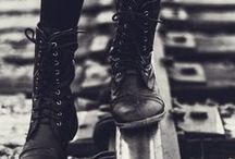 Boots & Shoes Love / Boots and shoes (mostly black) to coo over and fall in love with.
