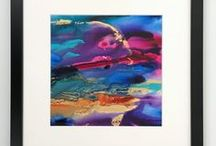 Fluid + Resin Art / Colourful bold abstract fluid art and resin art for your walls.