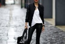 Street Style / Mainly black and edgy fashion styles on the street.