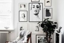 Art Walls / Ideas for how to display art as focal point in the home. How to make a wall art.