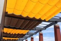 Drop Rolls and Slide on Wires / Photo's©2013 King Awnings Inc.