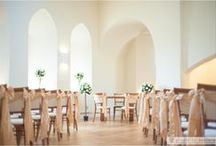 Wedding Ceremonies at Farnham Castle / Our beautiful ceremony rooms. The Lantern Hall for civil ceremonies and our original Norman Chapel for a religious ceremony or blessing.