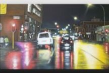 City/Night Scene Paintings by Ian Maree / Original paintings by Ian Maree