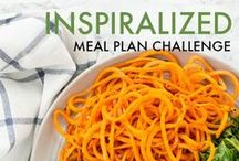 Spiralizer Meal Plans / These meal plans are designed for the beginner to intermediate cook who has a busy lifestyle and can't spend 30 minutes to an hour on weeknights preparing dinner. Everything is outlined from A to Z for easy following.