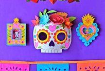 Ideas Día de Muertos / decoración, manualidades, disfraces, tutoriales, flores, papel de china