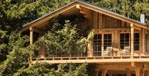 CHALETS AND WOODEN COTTAGES / Wooden design. Mountain houses, chalets, wooden cottages. It's all about the wood!:)