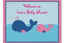 Whale Baby Shower/Birthday Party / Adorable whale designs for girls or boys. We have tons of items available on zazzle in this theme, everything you need to decorate a whale themed party!