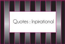 Quotes:  inspirational