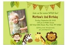 Jungle Baby Shower/Birthday Party / Adorable jungle designs, perfect for a safari/jungle themed birthday party or baby shower for boy and girls.