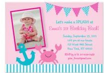 Nautical Crab Birthday Party/Baby Shower / Adorable crab designs for boys or girls! This a great nautical theme for summer.