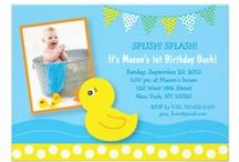 Rubber Duck Baby Shower / Birthday Party / Adorable rubber ducky invitations and decorations for a rubber ducky themed birthday party or baby shower-for boys and girls.