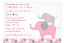 Polka Dot Elephant Baby shower / This elephant collection features polka dots and is available in pink for girls, blue for boys and neutral green if you don't want to reveal the gender of your baby.