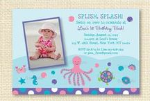 Under The Sea Baby Shower/Birthday Party / Adorable under the sea printables for a baby shower/birthday.