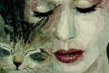 Art - Women with cats
