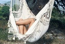 Hanging Chairs / Collection of high quality South and Middle American hanging chairs.