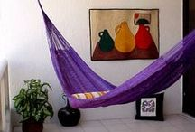 Hammock hanging ideas / Not sure where to hang your hammock. This board might give you some inspiration.