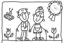 """Kinderboekenweek 2016 - Opa's en Oma's / Leuke kleurplaten en knutseltips voor de kinderboekenweek 2016 - Opa's & Oma's!  Kindergoochelaar Charly is tijdens de kinderboekenweek ook te boeken met zijn magische kindervoorstelling """"Superopa""""! http://dereizendegoochelaar.nl/kinderboekenweek-2016/"""