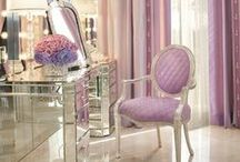 The Mirrored Vanity / Regal #mirroredvanity designs. Visit Our Blog & SEE MORE #beautyroom designs, http://bit.ly/1y9VlgM . SHOP many of the decorative items featured in this Pin for your #makeup, beauty room on our website at  http://bit.ly/1agw8sF •Eiffel Towers •Makeup Organizers •Makeup Brush Holders •Vanity Table Mirrors •Jewelry Organization •Wall Décor FOLLOW US & SAVE 15% OFF Your Total Purchase, use Promo Code 'PinSave15' at checkout.
