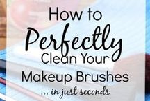 Makeup Brush Cleaning 101 / If your objective is blemish-free skin, then you must #clean your #makeupbrushes on a regular basis.  Clean, well-conditioned makeup brushes and applicators lead to a flawless #makeup application.