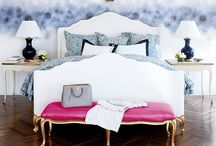 Emma's City / Tufted velvet , gilded mirrors and a little Chanel